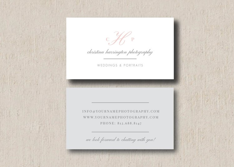 Wedding Photographer Business Card Template Eucalyptus
