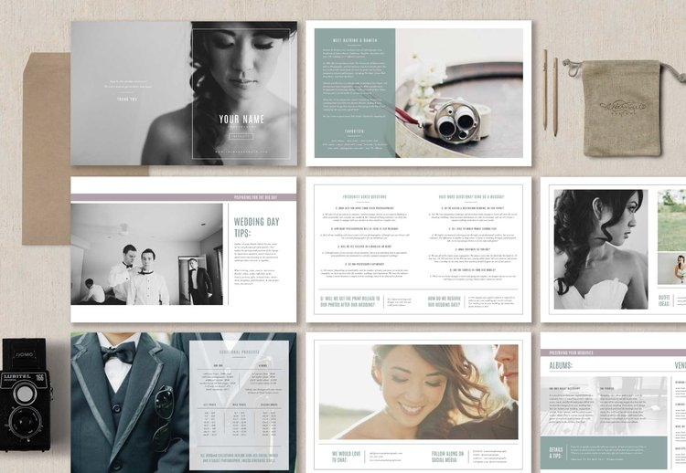 photography marketing set magazine template venice