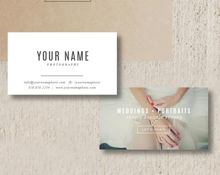 Photographer Business Card Template Venice
