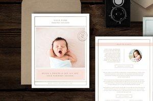Newborn Photography Magazine Template - Lily