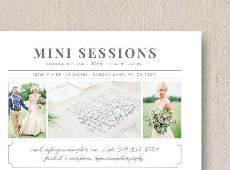 photographer mini session flyer template eucalyptus
