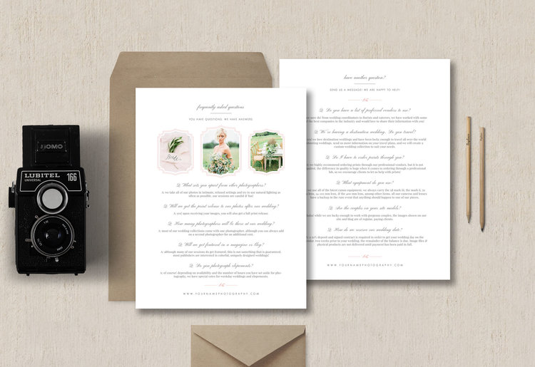 about me page templates for photographers & creatives