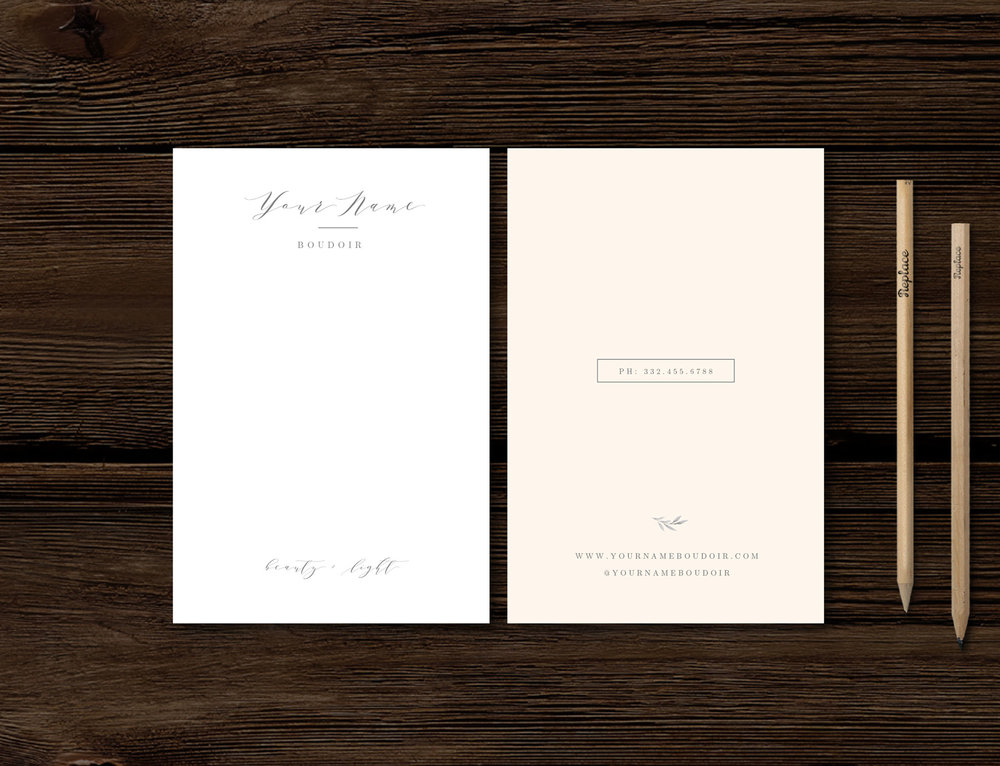 Thank You Card Template Modern Calligraphy Style Designs For