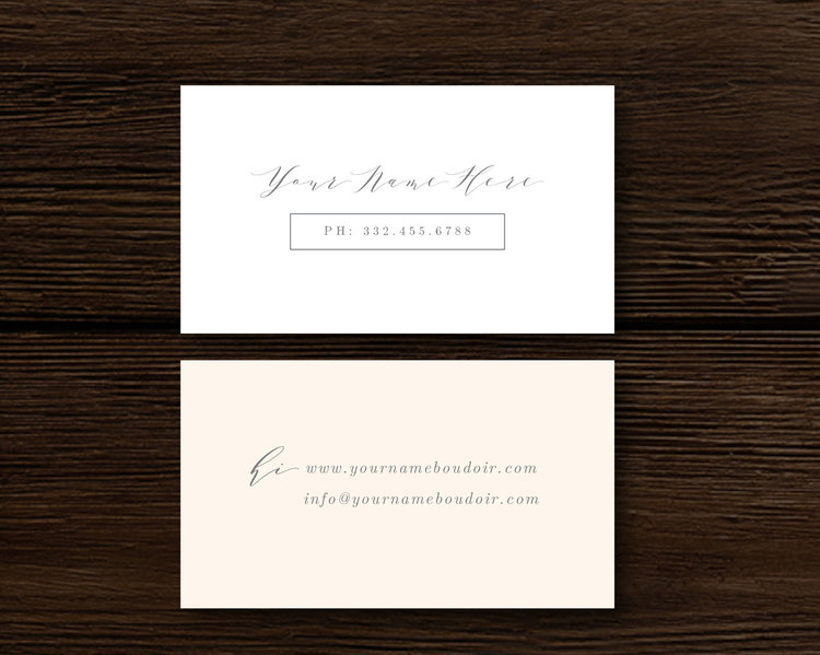 Calligraphy style business card template aspen flashek Images