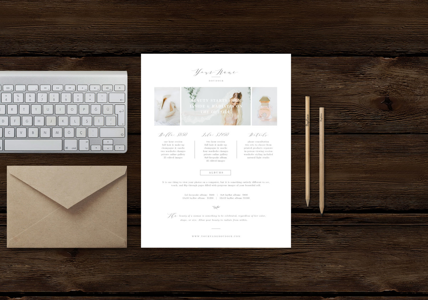 photography pricing template | price list templates