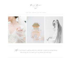 Squarespace Design Kit For Creatives Aspen - Wedding photography website templates
