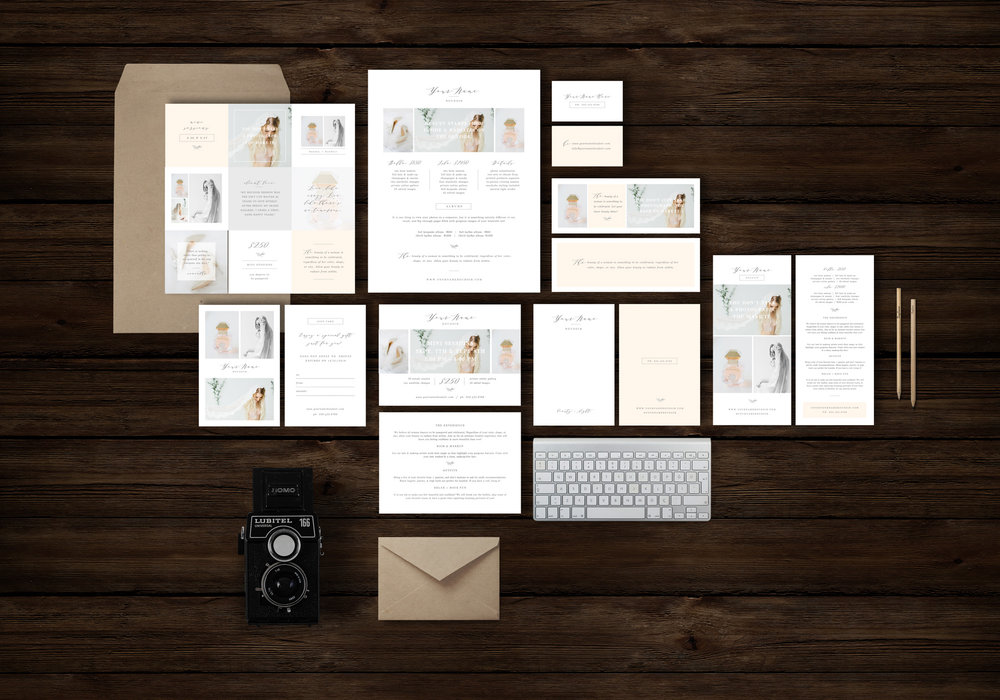photographer marketing templates | boudoir photography pricing guide design