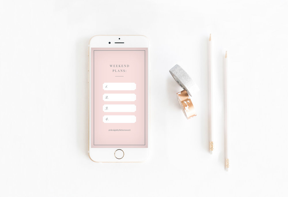 Head over to our Instagram page and click on the 'FREEBIE' highlight to get your three completely free Instagram Stories templates! If you like what you see, be sure to share the love and tag us @designbybittersweet!