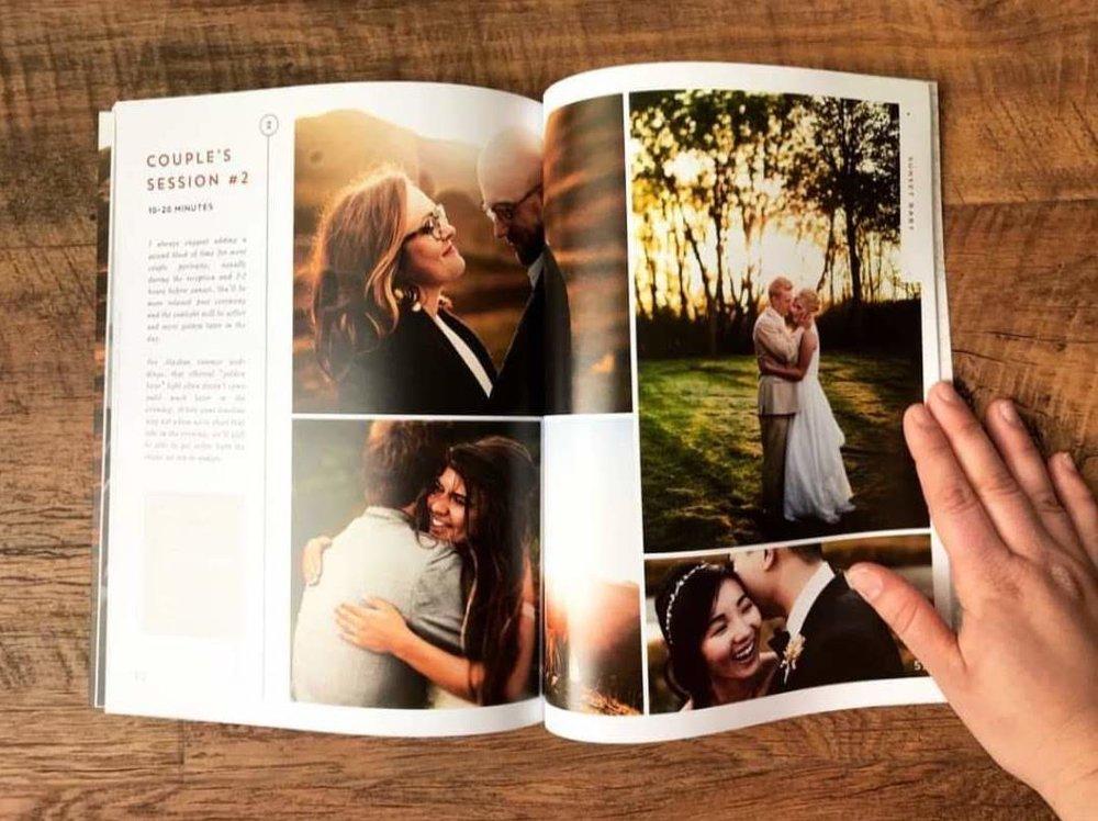 Customizable wedding photographer magazine guides.