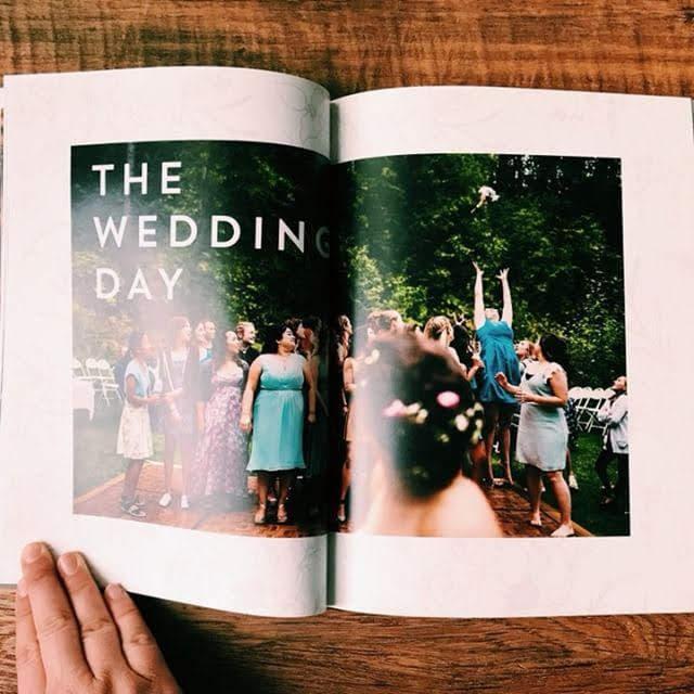 Wedding photographer marketing magazine design.
