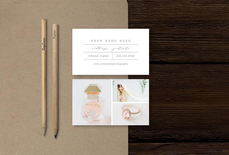 Portrait Photographer Business Card Template
