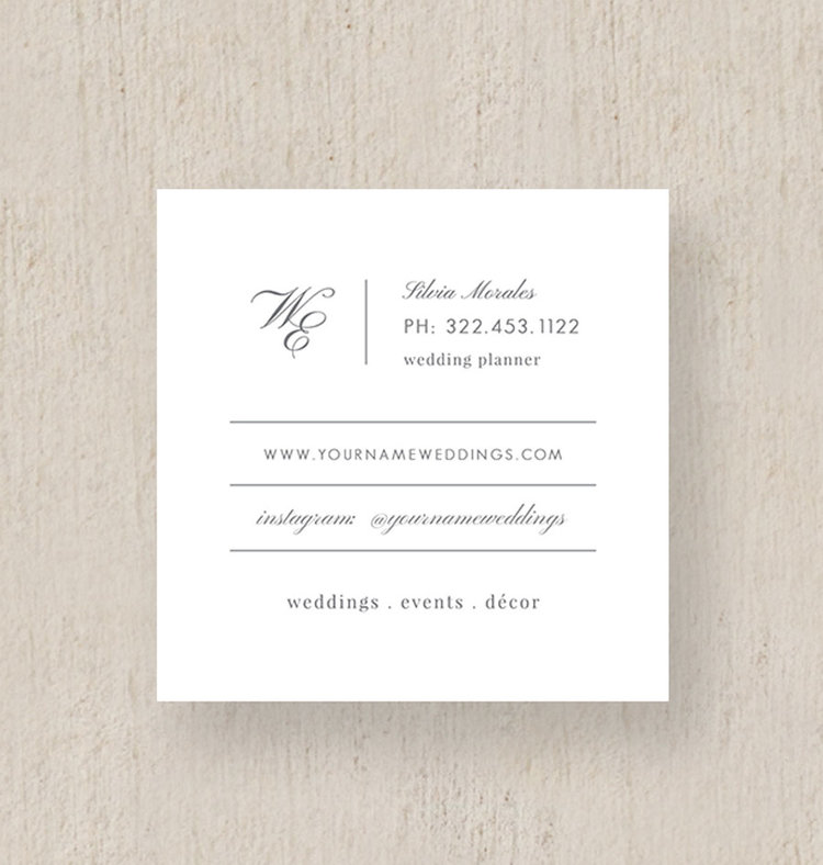 Moo Business Cards - Event Coordinator Business Cards - Eucalyptus