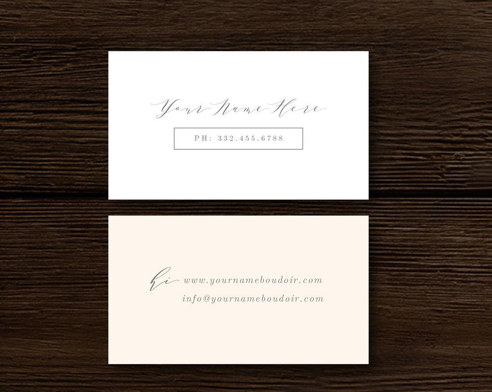 photographer business card template inspiration