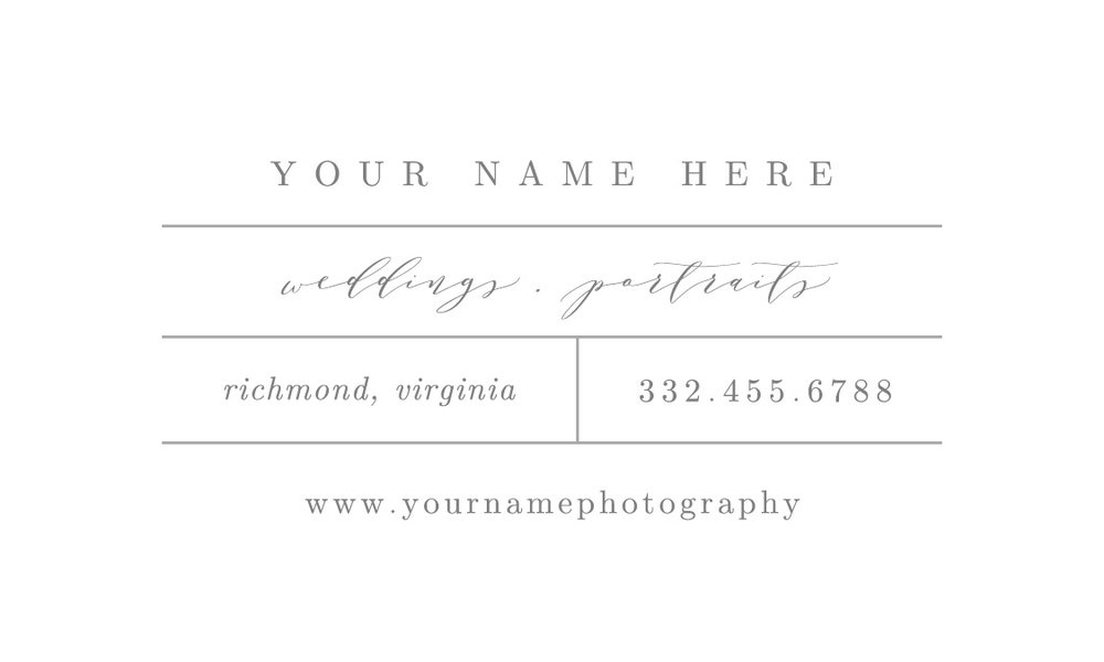 photographer business card inspiration | bittersweet design boutique | photography marketing templates