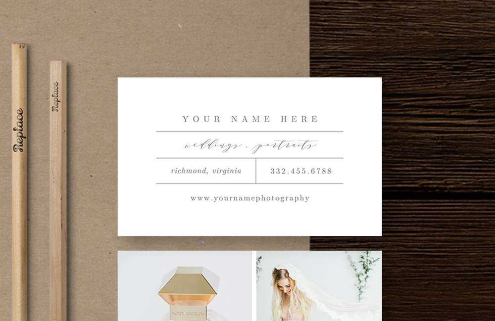 photographer business card inspiration | bittersweet design boutique | photography marketing templates for creatives
