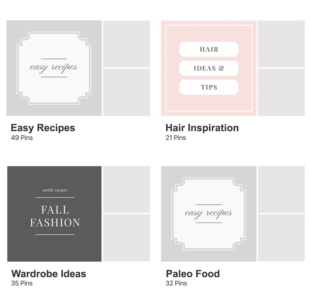 free pinterest board cover template