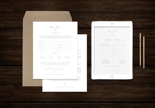 wedding photographer contract template studio invoice design price list for photographers