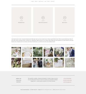 Squarespace Website Template For Wedding Photographers Laurel