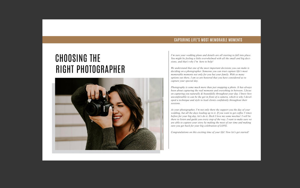 Photographer magazine templates by Bittersweet Design Boutique