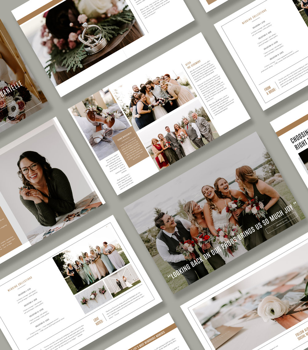 Photographer magazine template | customizable bridal guides