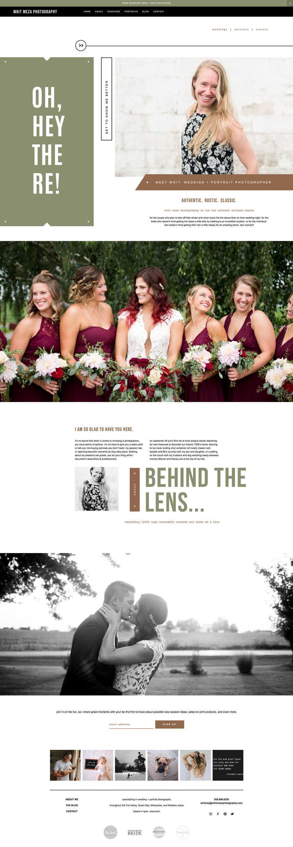 Squarespace Templates for Photographers   bittersweet design boutique