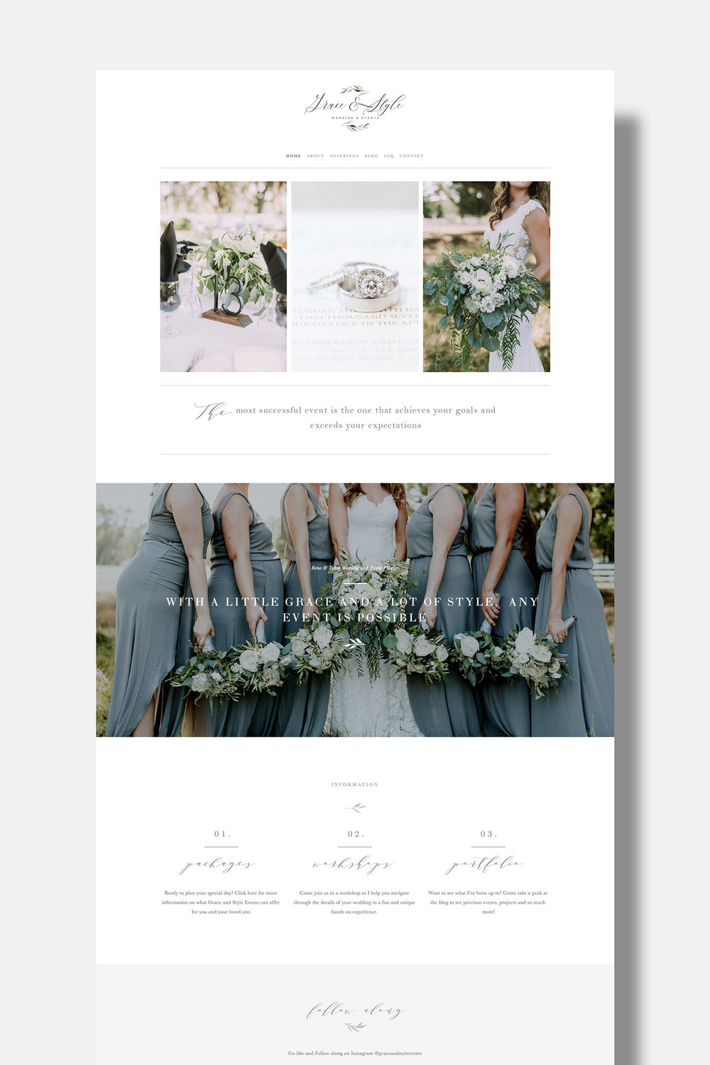 See How Grace & Style Used Our  Aspen Squarespace Template