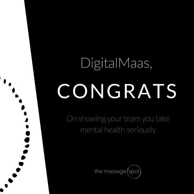For the last day of #SafeWorkMonth a big shout out must go to @DigitalMaas. They sure know how to look after the health and wellbeing of their team with fortnightly massages and a kick-ass health and fitness program!  #WHS #corporatemassage #corporate #massage #culture #health #wellness #corporatewellness #magichands #humanresources #HR #investinginyourpeople #greatplacestowork #themassagespot #massageday #mentalhealth #digitalmaas