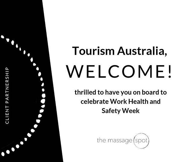 Welcome on board @tourism__australia  #corporatemassage #corporate #massage #culture #wellness #corporatewellness #magichands #humanresources #HR #investinginyourpeople #greatplacestowork #clienttestimonial #themassagespot #WHS #TourismAustralia #MySafetyMoment @safeworkaustralia