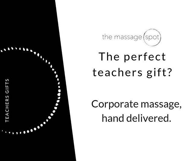 The perfect way to say thank you. Hands down. 💆🏻♀️💆🏼♂️👌🏻 #corporatemassage #corporate #massage #culture #wellness #corporatewellness #magichands #teachers #gifts #teachersgifts #corporategifts #investinginyourpeople #themassagespot