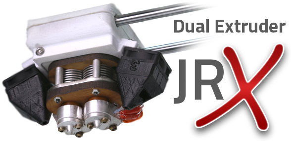 The AXIOM Dual Extruder 3D Printer's improved Dual JrX Hotend reaches independently controlled temperatures of 315°C (599°F) and is designed to resist troublesome clogs