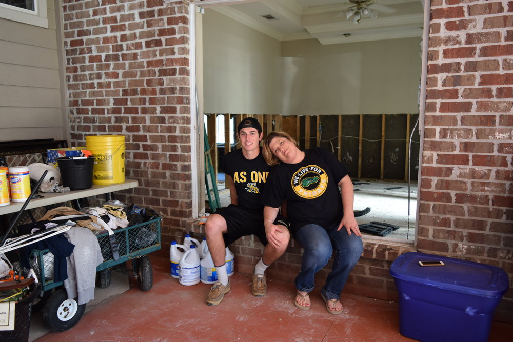 The Fontenots are just one of the many families affected by the 2016 Louisiana Flood.  They lost their home, their business and their son's schools all at the same time.