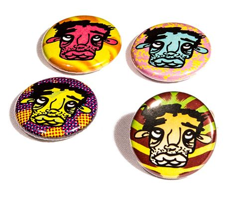set of 4 buttons