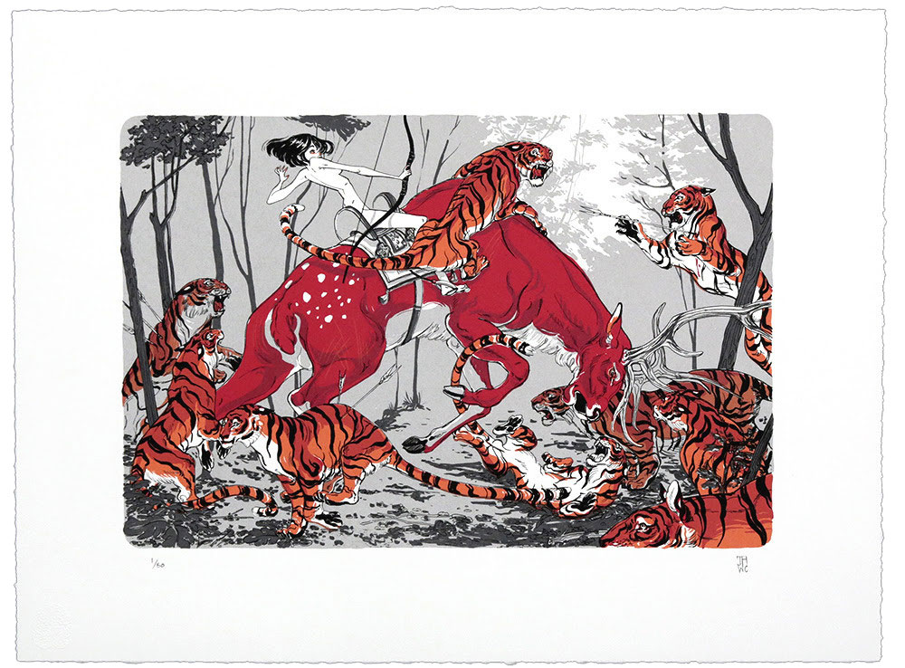 Print by J.A.W. Cooper