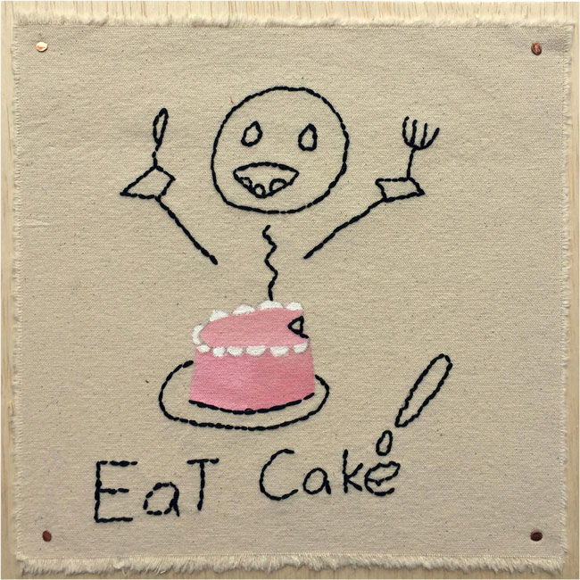 """Eat Cake!"" by Elaine Hartman (of L.A. Goal)"