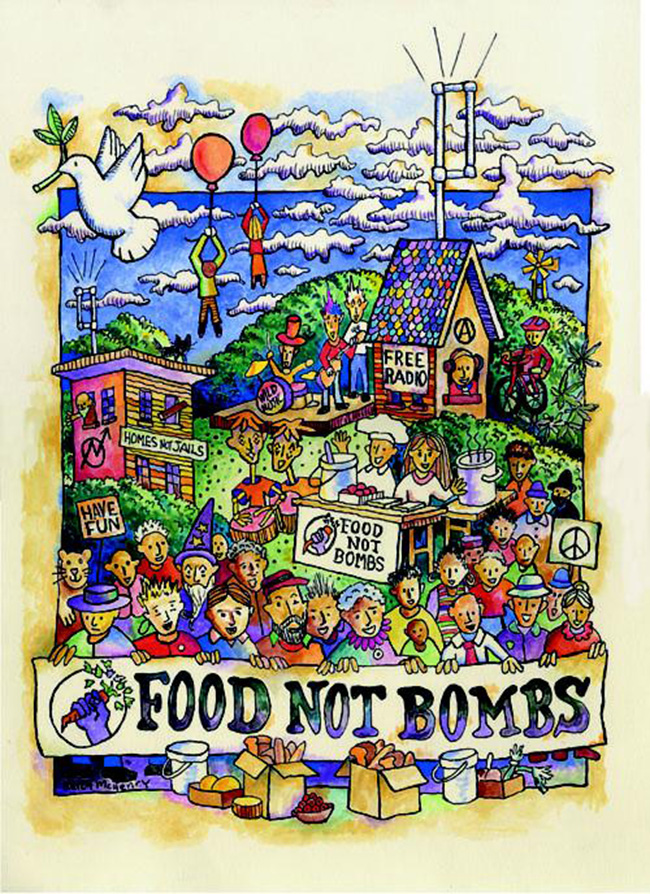 """Food Not Bombs"" (poster) by Keith McHenry"