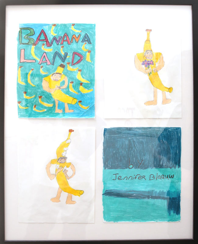 """Banana Land (original art from zine)"" by Jennifer Blaauw (of L.A. Goal)"