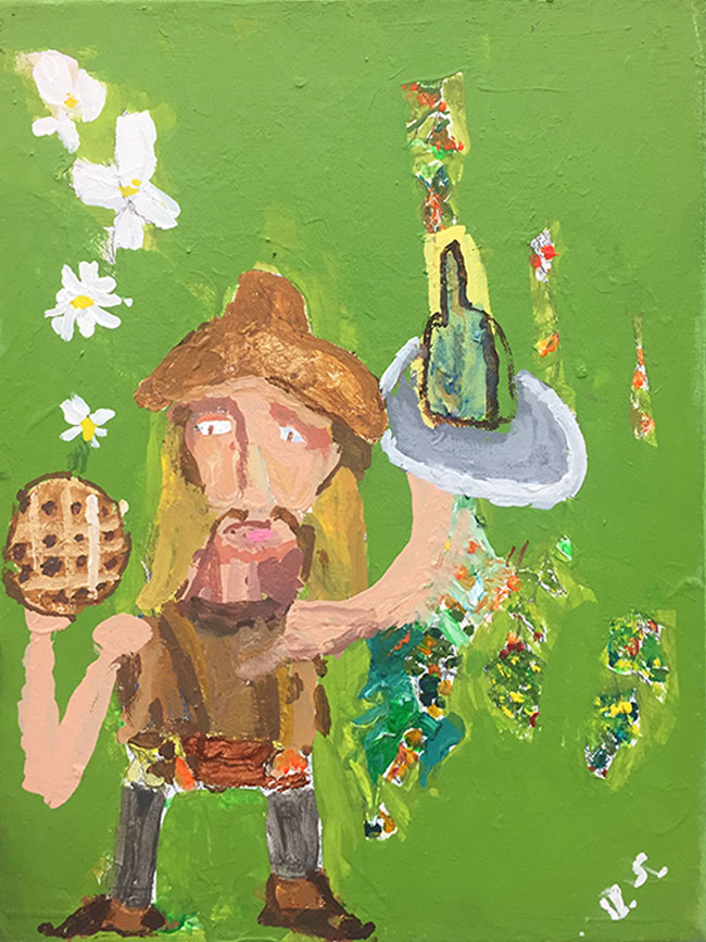 """Cowboy Eating a Waffle and Drinking Champagne"" by Victor Schneider (of L.A. Goal)"
