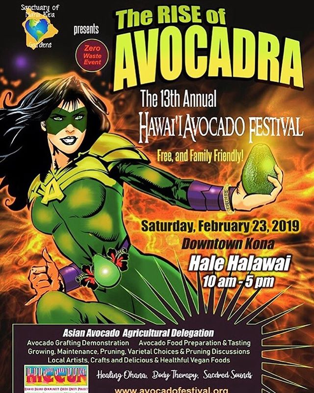 AVOCADO FESTIVAL time!!!!! Be there, Kona side, downtown! Come enjoy good food, Aloha and of course our honey tasting, we'll be by the water with @om_natural_products drizzling honey on perfectly ripe avocados and soaking up some sunshine!!! 10am-5pm, tomorrow  Saturday, Feb 23rd 🤙🏾🤩🌺🌞🥑🍯