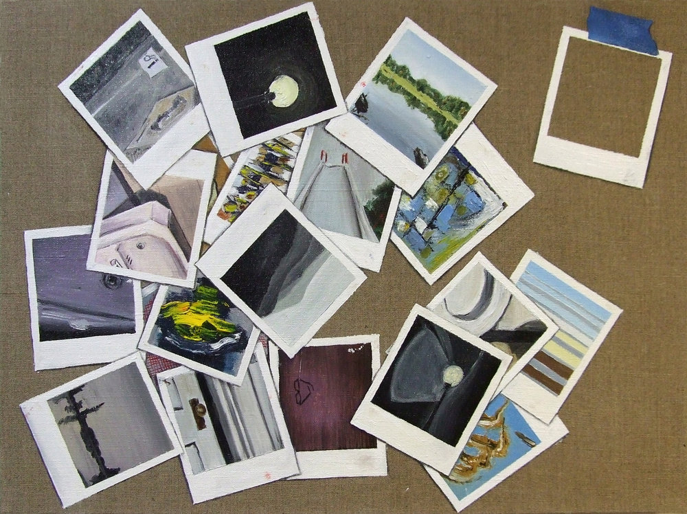 Twenty-two polaroids
