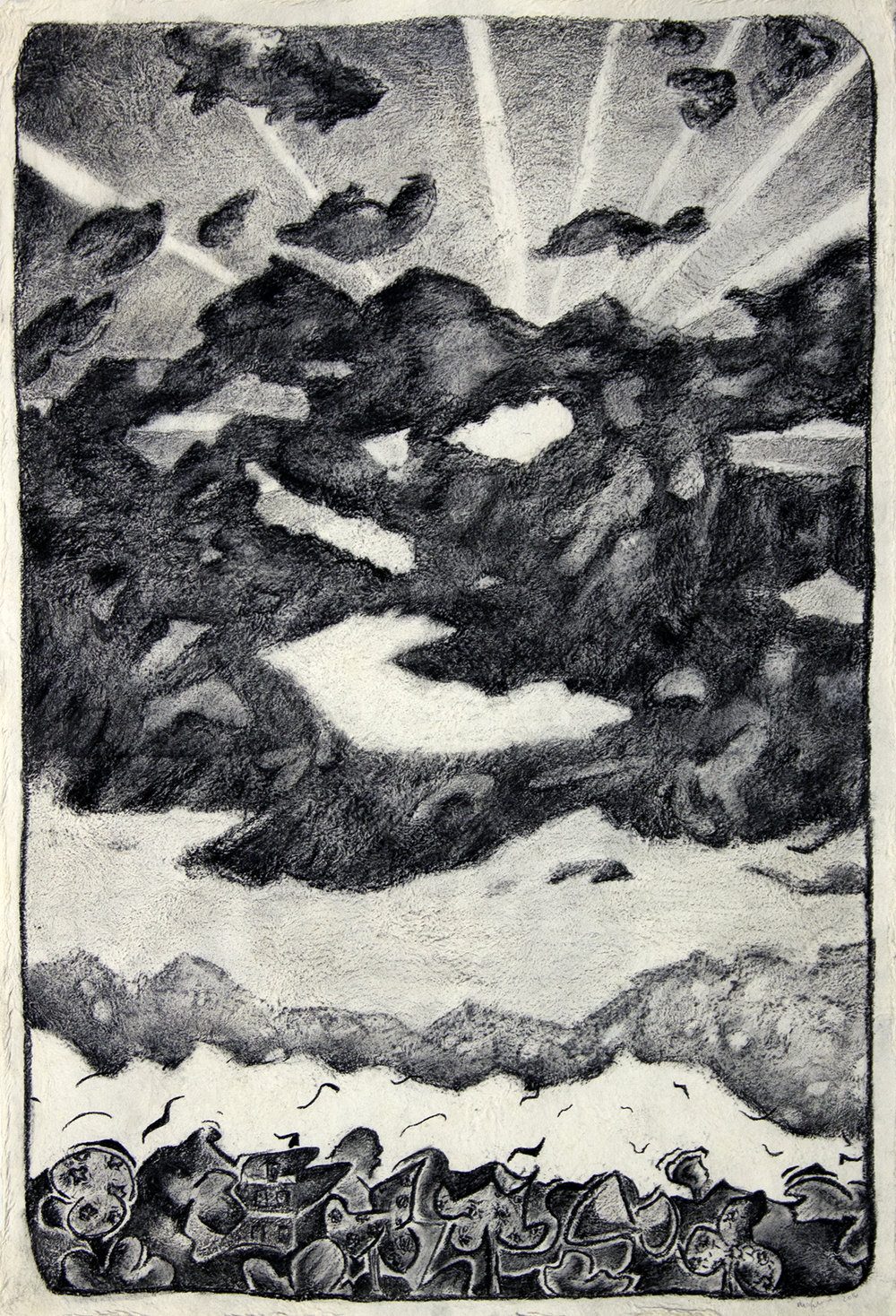 Study for Oaxacan landscape, 2