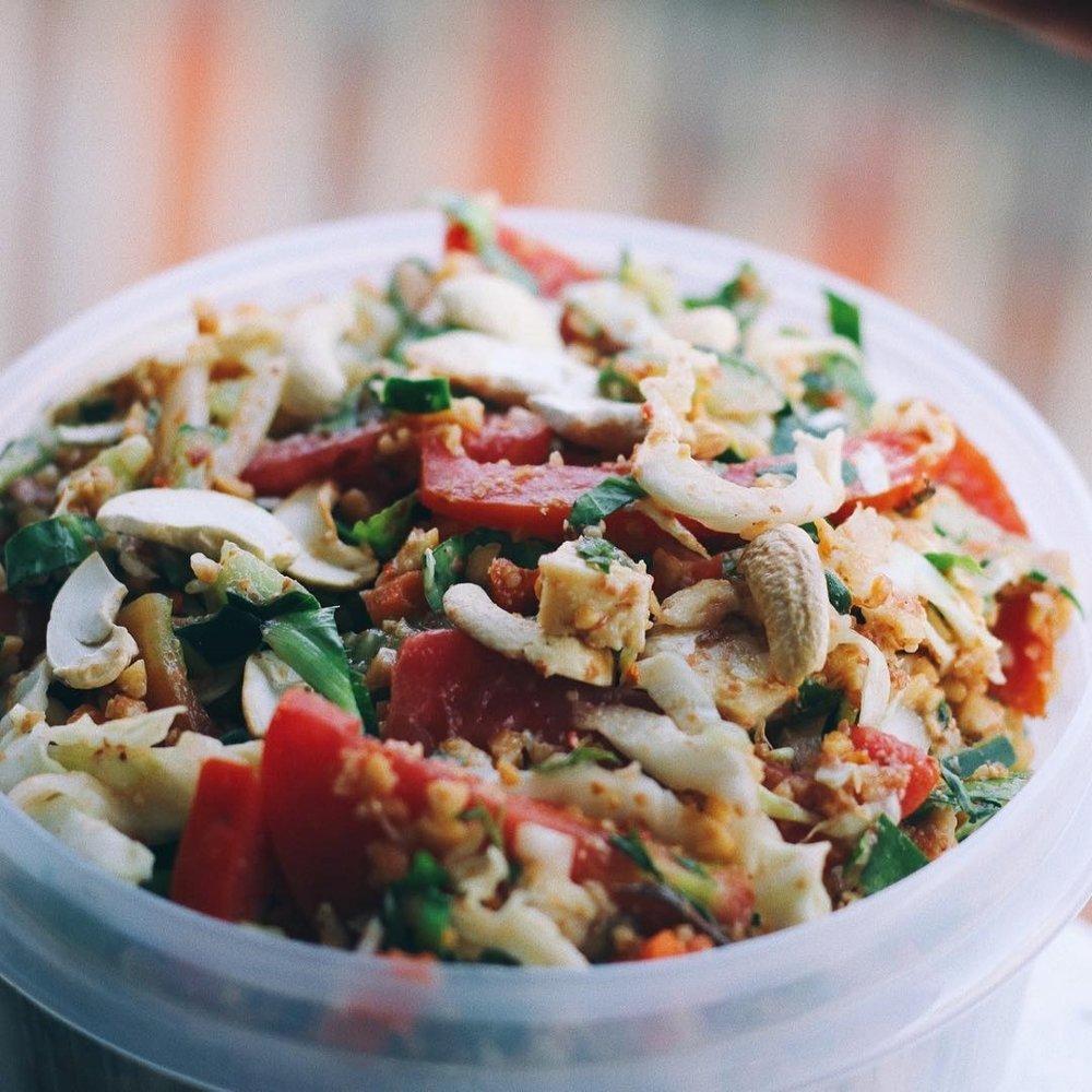 vegan, chiang mai, thailand, salad, healthy
