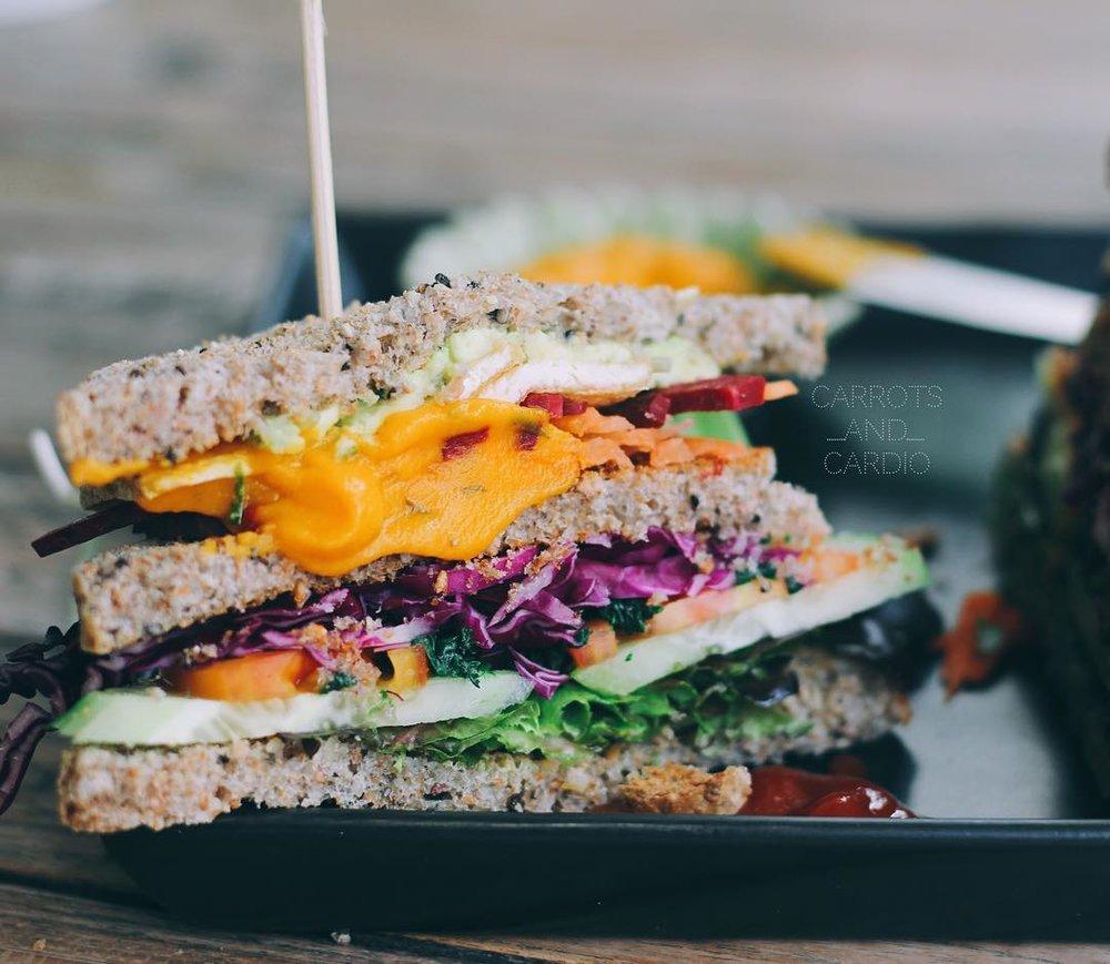 vegan, chiang mai, thailand, sandwich