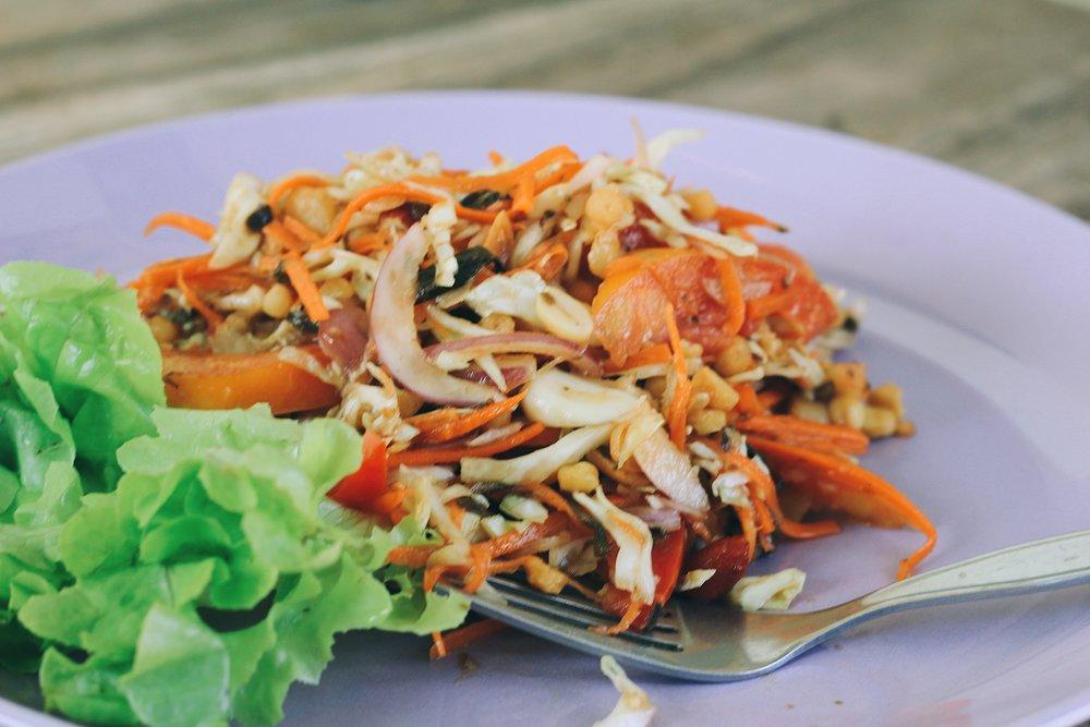 vegan, chiang mai, thailand, lunch, healthy, salad