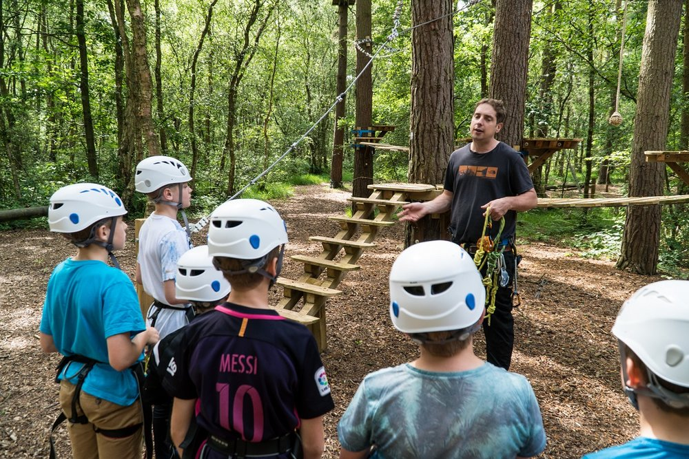 Ropes course briefing.