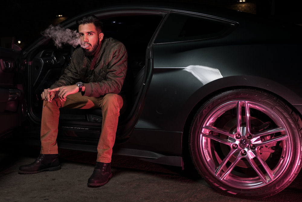 "Oscar Salazar is a construction worker by day and a street racer by night. ""It's a lot of fun seeing my car get faster and faster with more modifications put on it,"" Salazar said. ""But when money is put on the table, it gets more serious."""