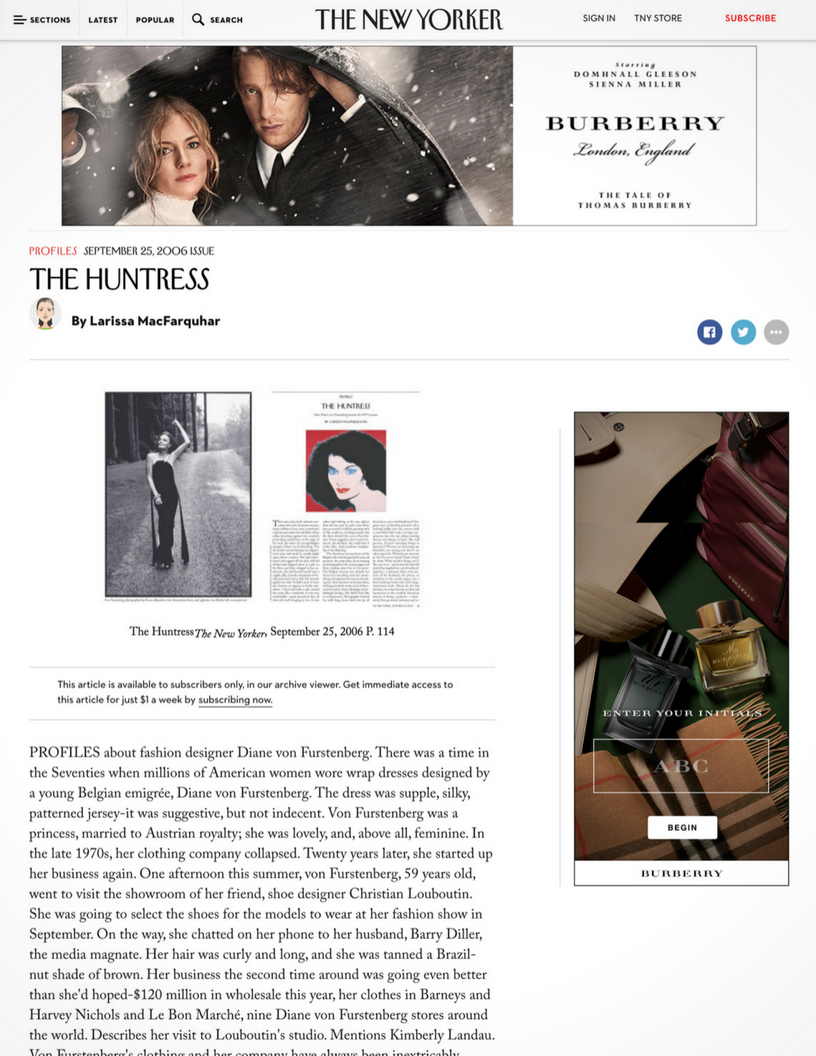 The New Yorker: Profiles: The Huntress