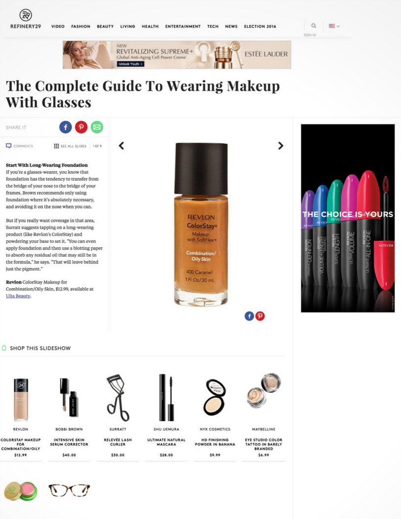 Refinery 29: The Complete Guide To Wearing Makeup With Glasses