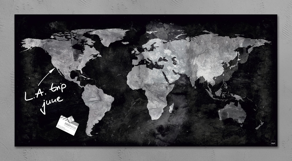 World map magnetic glass board united glass boards world map magnetic glass board gumiabroncs Choice Image