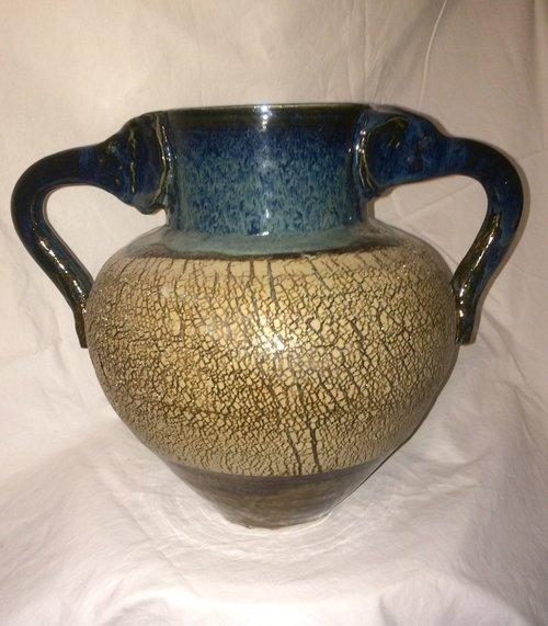 Sodium Silicate Elephant Vase Ben Olp Pottery