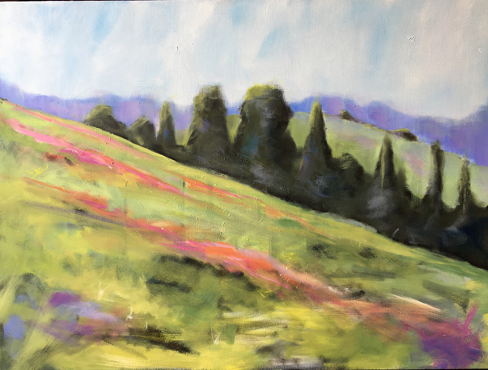 HILLSIDE BLOOMS / SOLD